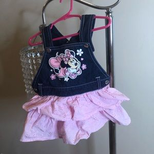 MINNIE MOUSE JEAN OVERALL DRESS